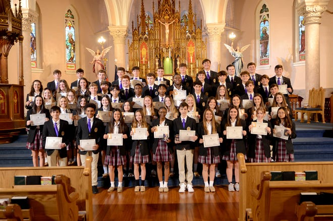 Ascension Catholic High School students were honored during the academic ceremony at Ascension of Our Lord Catholic Church in Donaldsonville on the morning of Sept. 22.