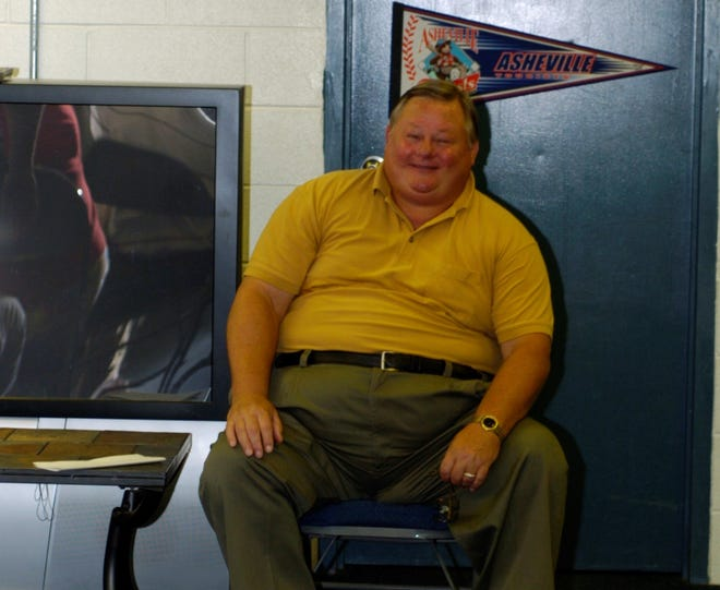 Former Asheville Tourists General Manager Ron McKee poses in the clubhouse.