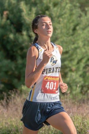 Whitney Werner leads the Pewamo-Westphalia girls cross country team.