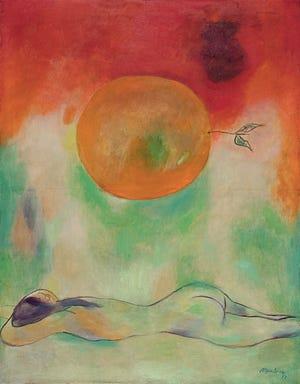 "Mariano Rodríguez, ""la naranja"" / ""la naranja,"" 1972 óleo sobre lienzo"
