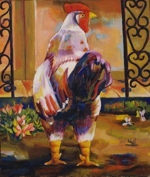 """Mariano Rodríguez, """"gallo (gallo)"""" / """"Gallo"""" 1941 óleo sobre lienzo"""