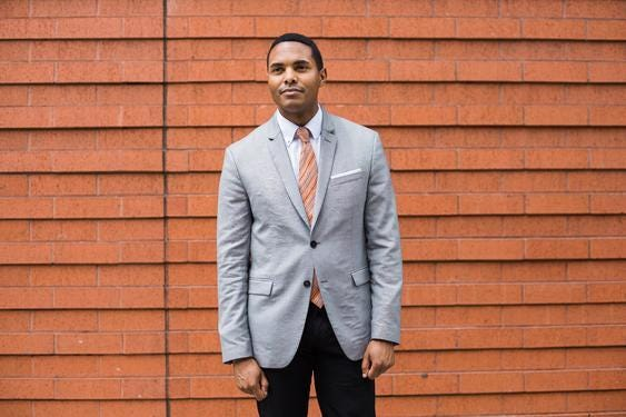 """FILE - Ritchie Torres, a New York City council member, in New York, July 12, 2019. """"Torres would be a formidable primary opponent to the new governor, Kathy Hochul,"""" writes The New York Times opinion columnist Bret Stephens. """"As perhaps the most singular political talent of his generation, he is one progressive who could, at last, do more to unite the nation than to further divide it."""" (Gabriela Bhaskar/The New York Times)"""