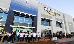 Amazon Fulfillment Center on south B Street in Stockton.