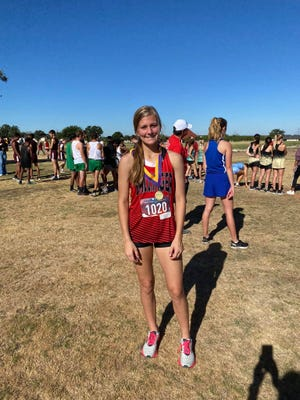 Addison Martin placed 1st today at the Merkel Invitational cross country race.