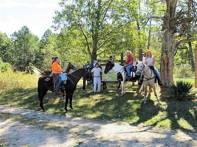 Backcountry Horseman preparing to clean do a trail maintenance ride on National Public Lands Day in 2018.
