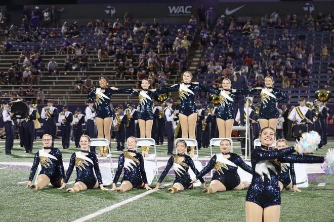The Stephenville High School Stingerettes performed with the Yellow Jacket Band during halftime of the 2021 Homecoming game against Abilene Wylie on Sept. 17 at Tarleton's Memorial Stadium.