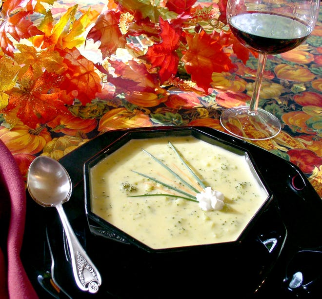 A step toward better health is to add more green to your diet, such as easy-cheesy broccoli soup.