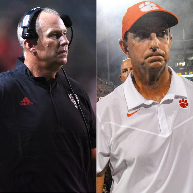 N.C. State and Clemson faceoff on Saturday.