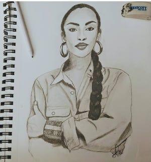 A drawing by Sheryl May.