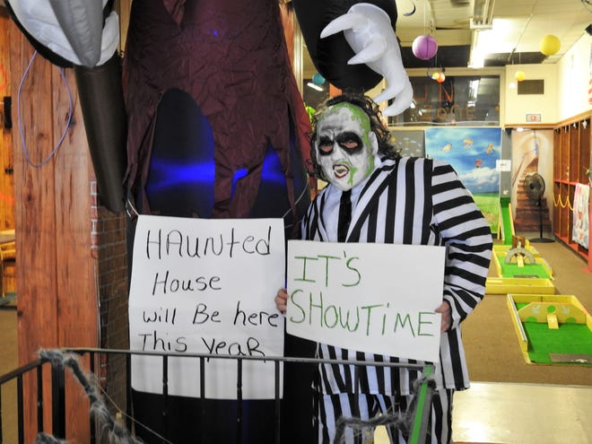 Beetlejuice, played by Devin Aronhalt, will be a central part of a haunted house opened on weekends and running through Halloween at the Coshocton Fun Zone. The Fun Zone opened in March and offers concessions, mini-golf and an escape room.
