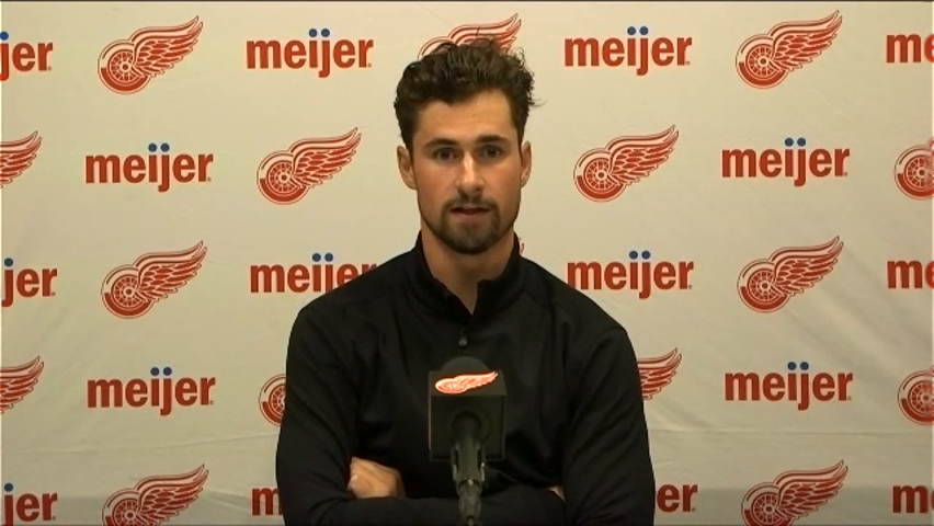 """Detroit Red Wings' Dylan Larkin relieved, excited after being """"in a lot of pain"""""""