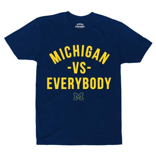 """Michigan athletes from the 27 men's and women's teams will have an opportunity to profit off a new T-shirt launch through the """"Michigan Versus Everybody"""" name, image, and likeness program."""