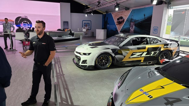 NASCAR star Austin DIllon shows off the next-gen NASCAR Camaro with modern upgrades like an independent rear suspension, sequential gearbox, and single-nut wheel.