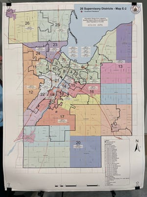 Brown County board members voted on this supervisory districts map, which troubles natural boundaries, community interests and compactness.