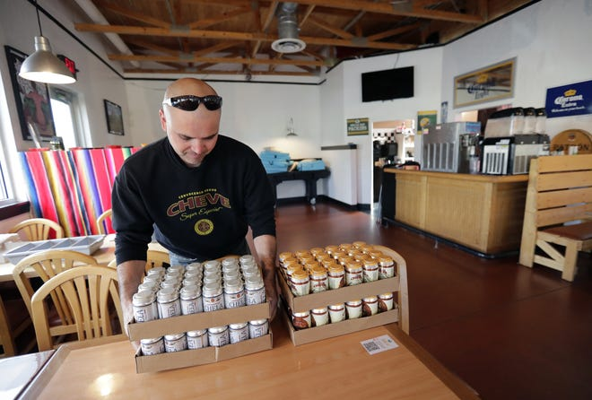 Alejandro Lagunes, owner of Cerveceria Mexus, delivers his beer to El Agave Mexican Grill & Cantina in Grand Chute. Lagunes, with the help of Titletown Brewing Co., produces two traditional Mexican style lagers, Chela and Cheve.