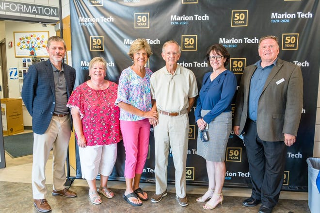 From left to right: Dr. Ryan McCall, Phyllis Butterworth, Alice Bailey, Dr. David Bailey, Dr. Amy Adams and Mike Stuckey.