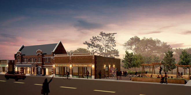 The plan to redevelop a former theater on Milwaukee's near west side now includes an adjacent restaurant and outdoor stage for music performances.