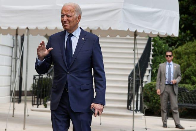 U.S. President Joe Biden departs the White House on July 16, 2021 in Washington, DC.  (Chip Somodevilla/Getty Images/TNS)