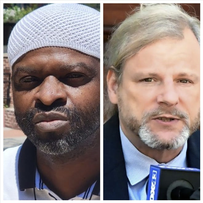 Incumbent York City Mayor Michael Helfrich, right, and challenger Shareef Hameed, who's running as an independent, will face off at an NAACP candidate forum Thursday night at the Appell Center in downtown York.