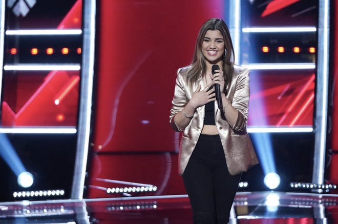 """Reno resident Carolina Alonso, 23, seen following her performance on NBC's """"The Voice"""" airing September 21, 2021."""