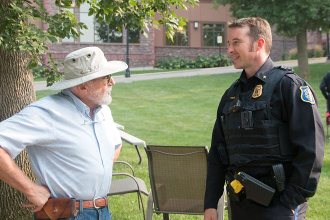 Police Chief Jon Thum during the National Night Out event on August, 3, 2021.