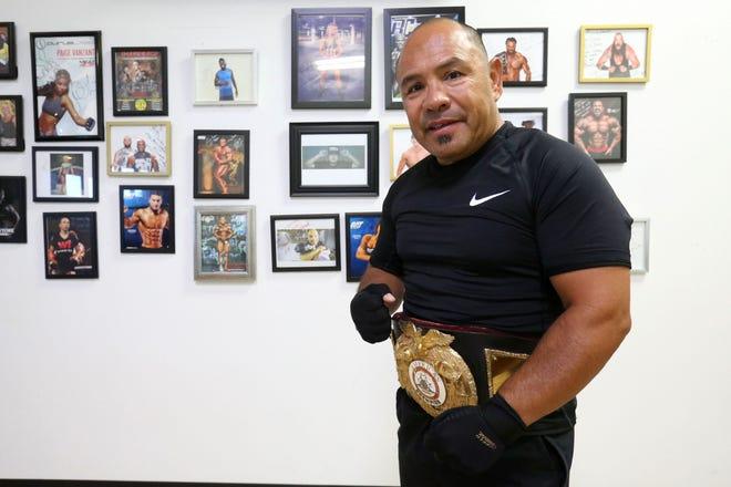 Boxer Fernie Morales Thursday, Sept. 23, 2021, at Gold's Gym in El Paso.
