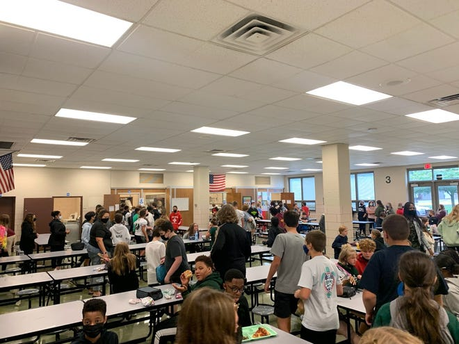 The lunch line at Nordonia Middle School can get long. Students can get meals at school for free this school year.