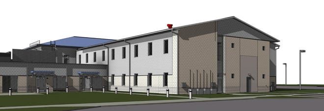 Rendering of a new two-story building, by Moody Nolan architects, that's part of Alvis Inc.'s $25 million expansion at its Alum Creek facility.