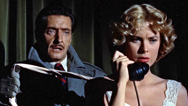 """Grace Kelly in """"Dial M for Murder,"""" showing as part of """"Hitchcocktober,"""" Oct. 9-11"""