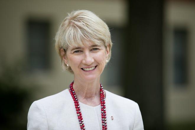 Kristina M. Johnson, president of Ohio State University