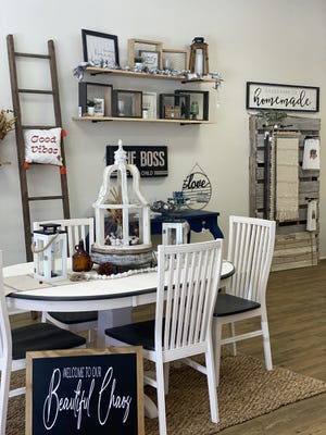 Homemade Happiness & Co., offers home decor and custom-crafted items from owners Kayla and Brian Moore, along with 13 Southeastern Ohio vendors.