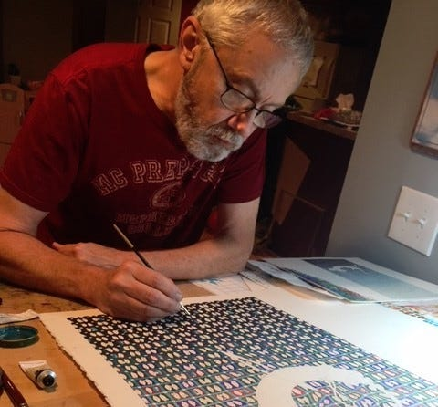 For Wayne Conyers of McPherson, retirement was a big deal. He had spent 44 years of teaching art, most recently at McPherson College,before retiring.