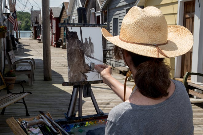 """Artists are challenged to paint in and around downtown Canandaigua for prizes on Oct. 2. """"Paint the Town"""" artwork will be available from 2:30 to 6 p.m. at Central on Main Street."""