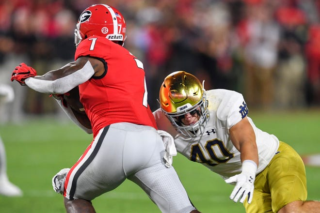 Notre Dame linebacker/captain Drew White likes how hard the Irish have played three weeks in, which gives them a good chance Saturday against No. 18 Wisconsin.