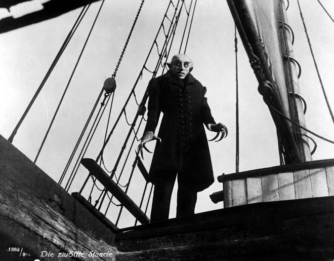 """Max Schreck stars in """"Nosferatu"""" (1922), the original silent film version of Bram Stoker's """"Dracula,"""" to be shown with live music by Jeff Rapsis on Saturday, Oct. 30 at 7 p.m. at the Leavitt Theatre, 259 Main St., Route 1 in Ogunquit. Admission $12 per person; tickets available at the door. For more info, call (207) 646-3123 or visit www.leavittheatre.com."""