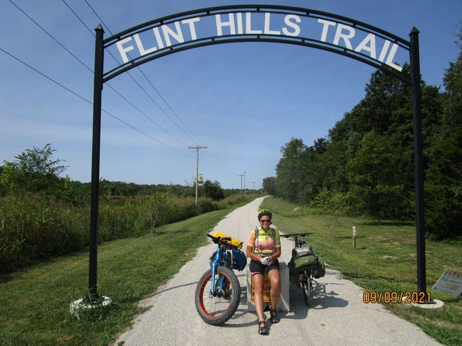 Outdoor enthusiast and Pratt cyclist Brandon Case discussed the Flint Hills Nature Trail and it's many options for a scenic ride.