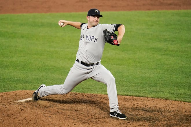 Yankees pitcher Michael King has worked out of the bullpen after missing several months because of an injured finger.