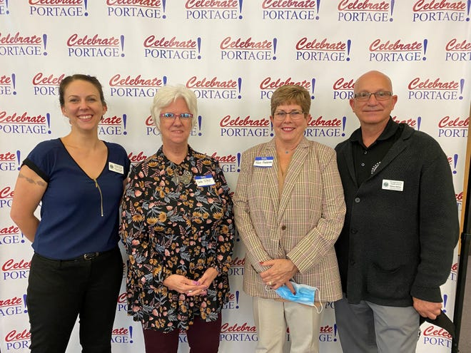 The Portage County Health District won a Pandemic Initiative award for its COVID-19 response. From left are Penny Paxton, Deb Stall, Rose Ferraro and Bob Walker.