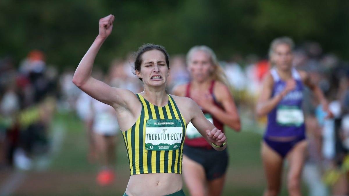 Oregon newcomer Izzy Thornton-Bott a winner in her NCAA cross country debut