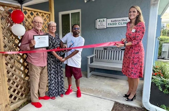 Stephen Winners, Kathryn Shea, Seth Winners and Kristie Skoglund celebrate The Florida Center's newly expanded and renamed Kathryn Shea FASD Clinic, the only fetal alcohol spectrum disorders diagnostic clinic in Florida.