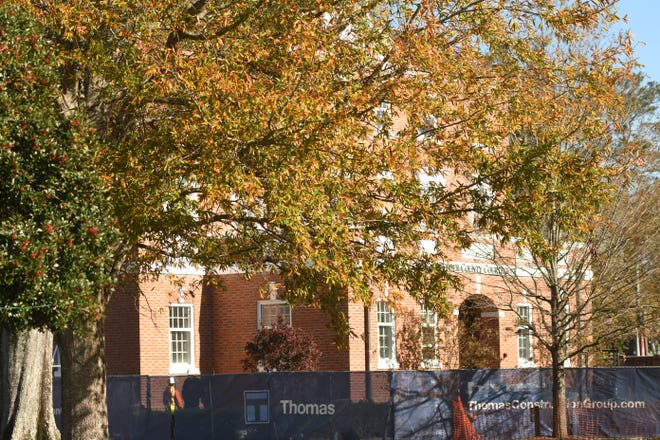 Renovations continue to the Pender County Courthouse in Burgaw, N.C., Dec. 2, 2020.
