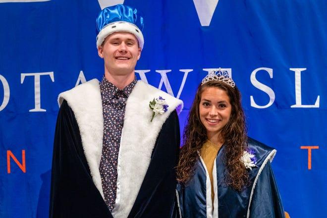 Dakota Wesleyan University homecoming royals Mason Larson of Langford and Michaela Herman, of Reliance.