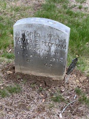 Homer Peckham grave