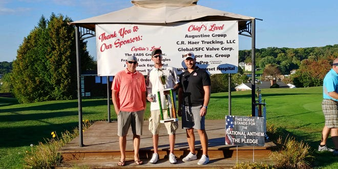 First place in the B-Flight are, left to right: Michael Wain, Sean Cramer and Brendon Bowser. Absent was Ron Tirko.