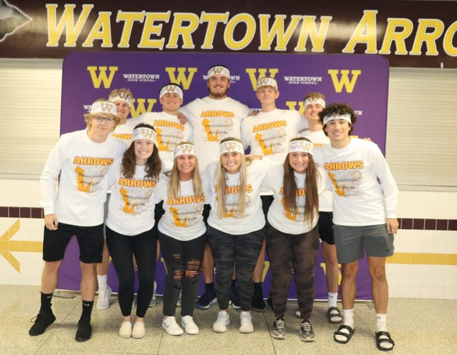 Watertown High School's homecoming royalty is, back from left, Ben Althoff, Cole Holden, Paden Johnson, Trayton Engels, Noah Schoenefeld; front from left, Jack Sjoberg, Ella Cozad, Allison Geffre, Grace Ortmeier, Emma Dylla and Andre' Baumgart. Homecoming events began Monday and continue throughout the week.