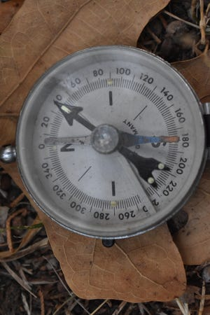 Luke's old compass that he has carried for over 40 years. This instrument has led Luke into and out of some spectacular country through the years.