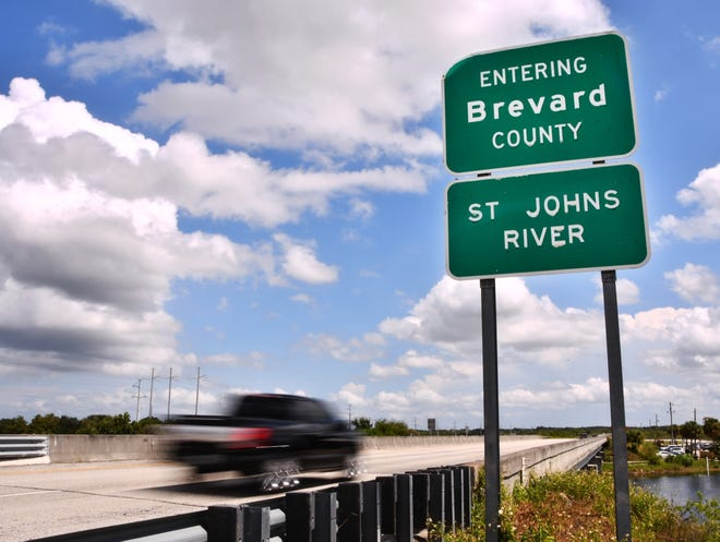 """This """"Entering Brevard County"""" road sign is off State Road 520, near the Lone Cabbage Fish Camp."""