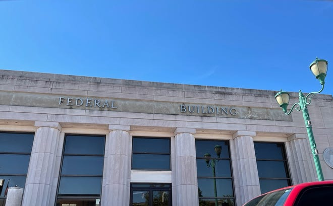 The historic downtown Clarksville Federal Building