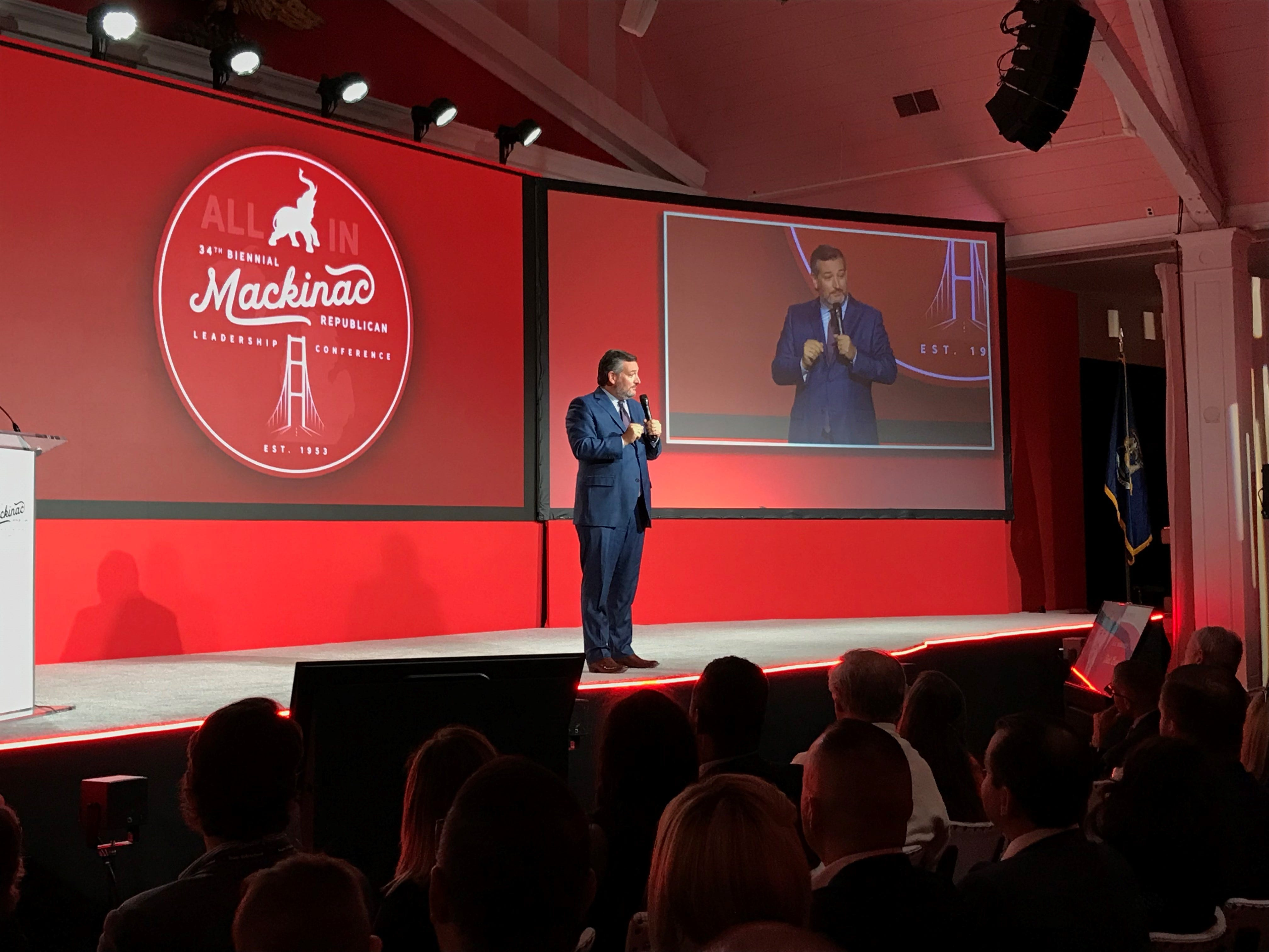 Cruz, McDaniel slam Whitmer during opening speeches at Mackinac GOP conference