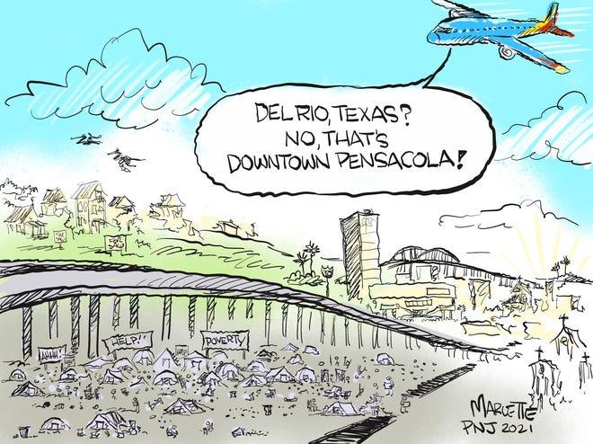 Marlette cartoon: Pensacola's tent city